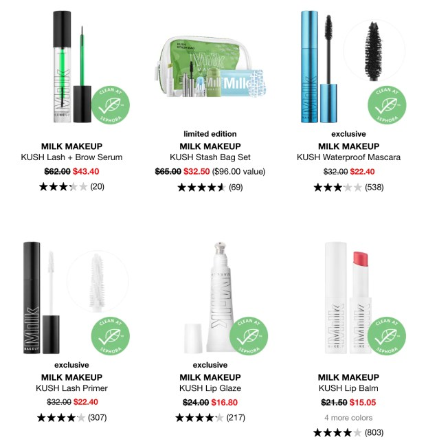Sephora Canada Hot Spring Sale Milk Makeup Kush Products 2020 Canadian Deals - Glossense