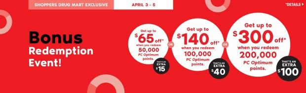 Shoppers Drug Mart Beauty Boutique SDM Canada Super Spend Your Canadian PC Optimum Points Redemption Event April 3 5 2020 - Glossense