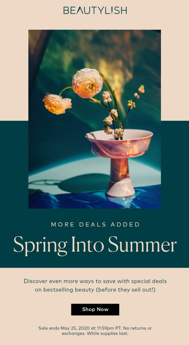 Beautylish Canada New Spring Into Summer Deals Added Canadian Sale Event - Glossense