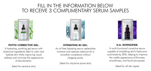 Canadian Freebies Sign-up Get 3 Free SkinCeuticals Skincare Samples - Glossense