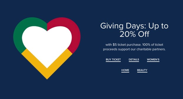Hudson's Bay Canada Buy a Giving Days Ticket Save 2020 Canadian Deals Sale - Glossense