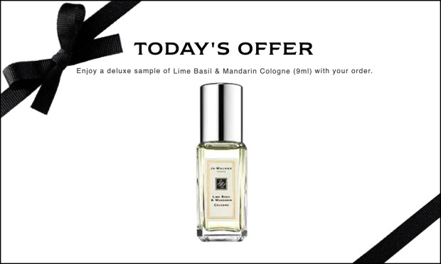 Jo Malone Canada Free Lime Basil Mandarin Cologne Mini Any Purchase Father's Day 2020 Canadian Deals Promo Code - Glossense