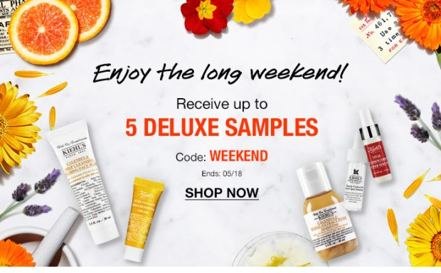 Kiehl's Canada Shop Get Up to 5 Free Deluxe Samples Victoria Day 2020 Canadian Deals Promo Code - Glossense