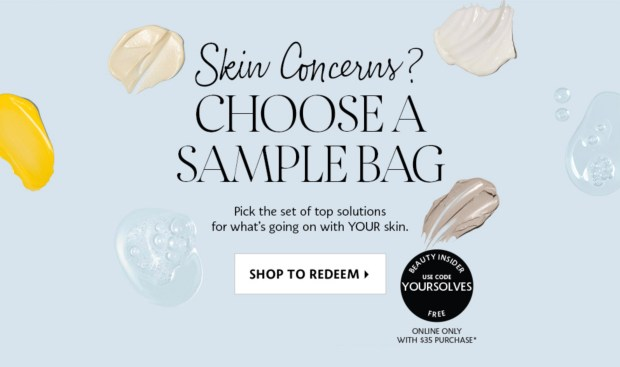 Sephora Canada Choose Your Free Skincare Solutions Sample Bag with Purchase Canadian Deals GWP Offer Promo Code - Glossense