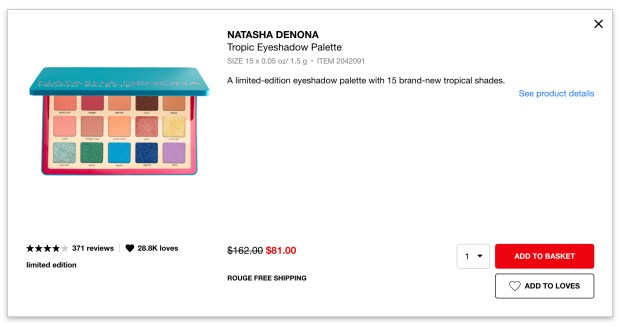 Sephora Canada Hot Spring Sale 50 Off Natasha Denona Tropic Eyeshadow Palette Free Shipping 2020 Canadian Deals - Glossense