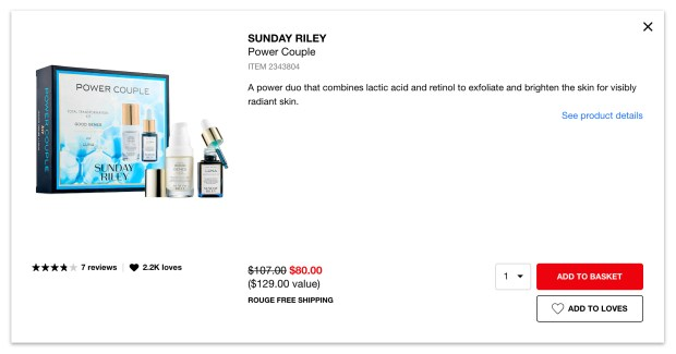 Sephora Canada Hot Summer Sale 25 Off Sunday Riley Power Couple Set 2020 Canadian Deals - Glossense