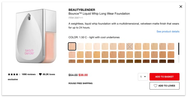 Sephora Canada Summer Sale 30 Off BeautyBlender Bounce Liquid Whip Long Wear Foundation 2020 Canadian Deals - Glossense