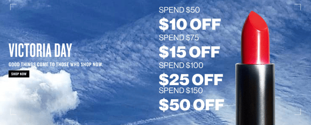 Smashbox Cosmetics Canada Victoria Day Savings Get Up to 50 Off Your Purchase 2020 Canadian Deals - Glossense