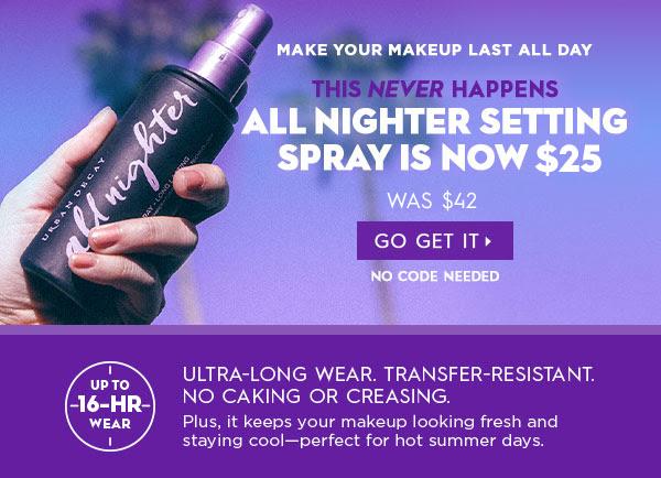 Urban Decay Canada Sephora All Nighter Setting Spray Canadian Deals Sale - Glossense