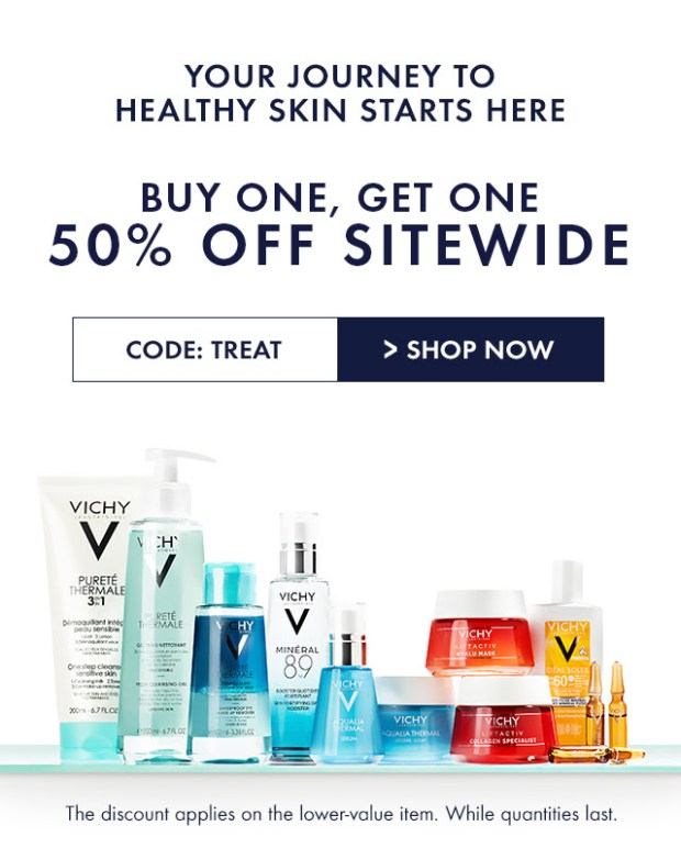 Vichy Canada Buy One Get One 50 Off Sitewide Free Shipping Canadian Deals Promo Code - Glossense