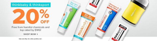 Wellca Well dot ca Save Thinkbaby Thinksport SPF Sunscreen Sun Care Promo Code 2020 Canadian Deals - Glossense