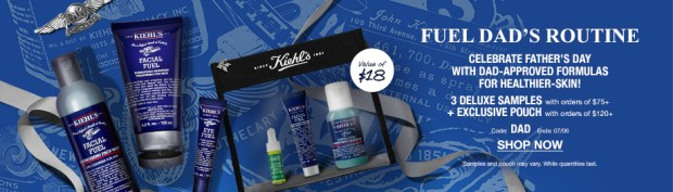 Kiehl's Canada Father's Day Exclusive Free Deluxe Samples Pouch Canadian Deals Promo Code GWP Offers - Glossense