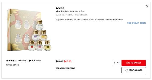 Sephora Canada Hot Summer Sale Tocca Perfume Mini Replica Wardrobe Set 2020 Canadian Deals - Glossense