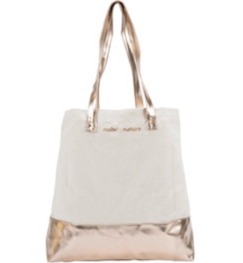 Shoppers Drug Mart Canada Free Nude by Nature Rose Gold Canvas Tote Bag Canadian Gift with Purchase Offer - Glossense