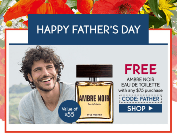 Yves Rocher Canada Free Ambre Noir Eau De Toilette For Men More Gifts 75 Purchase Canadian HOT GWP Offers - Glossense