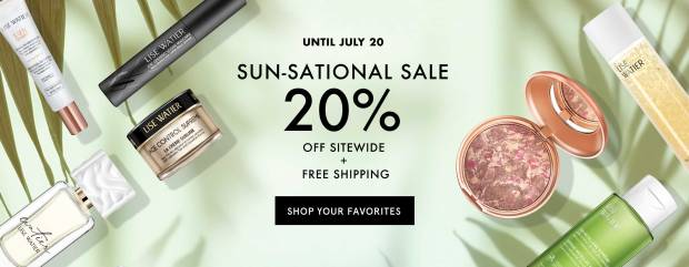 Lise Watier Canada Sun-Sational Summer Sale Save Sitewide Free Shipping Canadian Deals - Glossense