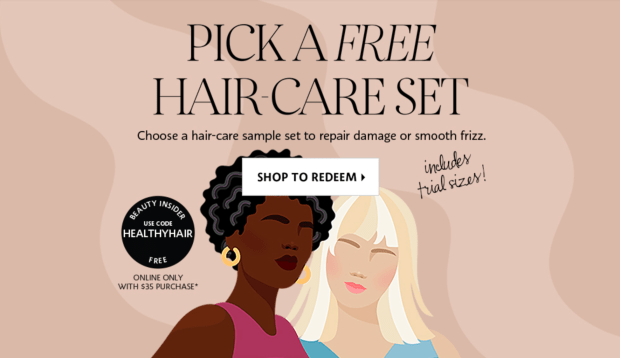 Sephora Canada Choose a Free Hair-Care 10-pc Sample Set Goody Bag Purchase Canadian Deals GWP Offer Promo Code - Glossense