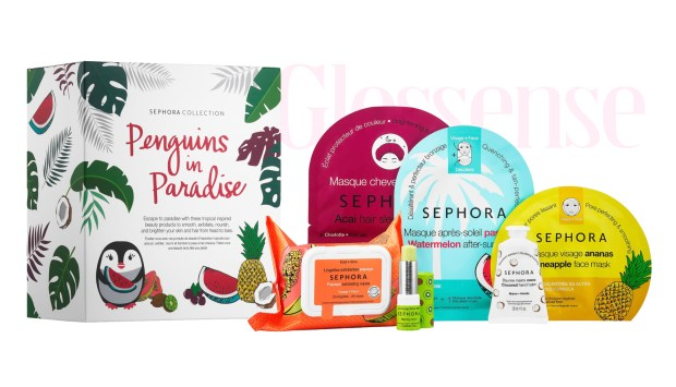Sephora Canada Hot Summer Sale Off Penguins in Paradise Set Masks Tropical Skincare Collection 2020 Canadian Deals - Glossense