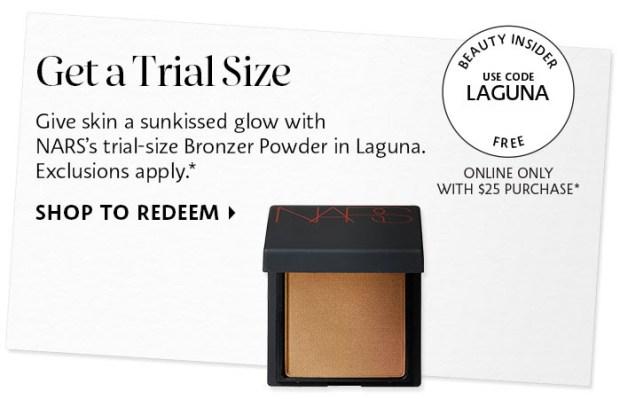 Sephora Canada Promo Code Free Nars Laguna Bronzer Powder Deluxe Mini Sample - Glossense