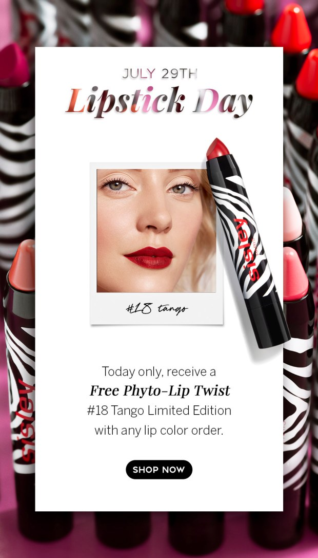 Sisley Paris Canada Free Phyto-Lip Twist Tango Every Lip Color Order National Lipstick Day 2020 Canadian Deals GWP Offer - Glossense