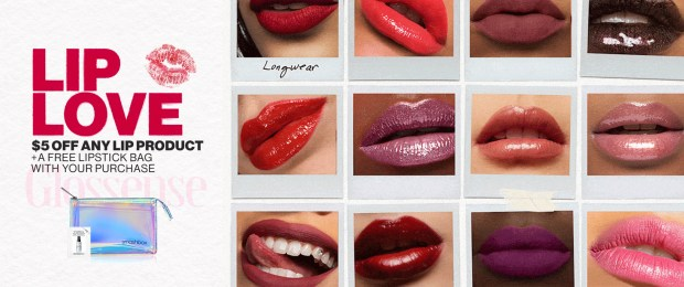 Smashbox Cosmetics Canada Save 5 Off Free Makeup Bag Sample Any Lip Purchase Free Shipping National Lipstick Day 2020 Canadian Deals GWP Gift Offer - Glossense