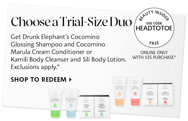 ree Drunk Elephant Hair or Body Duo Deluxe Mini Sample Set Purchase Canadian Beauty Offer - Glossense