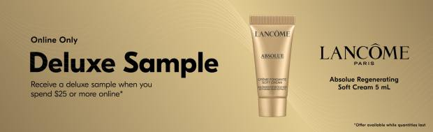 Beauty by Shoppers Drug Mart Canada Free Lancome Absolue Regenerating Soft Cream Mini Deluxe Sample - Glossense