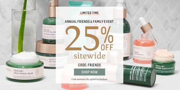 Biossance Canada Friends Family Sale Event Save 25 Off Sitewide Canadian Deals Promo Codes - Glossense