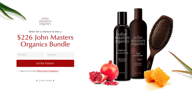John Masters Organics Canada Save 20 Off Promo Code Canadian Coupons Contests - Glossense