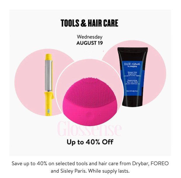 Nordstrom Canada Glam-Up Day 1 Up to 40 Off Tools Hair Canadian Anniversary Sale Event August 19 2020 - Glossense.jpg