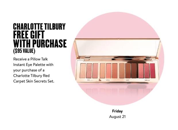 Nordstrom Canada Glam-Up Day 3 Free Charlotte Tilbury Palette Red Carpet Skin Secrets Set Canadian Anniversary Sale Event Daily Deal August 21 2020 - Glossense