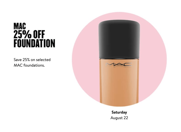 Nordstrom Canada Glam-Up Day 4 Save 25 Off MAC Foundations Canadian Anniversary Sale Event Daily Deal August 22 2020 - Glossense
