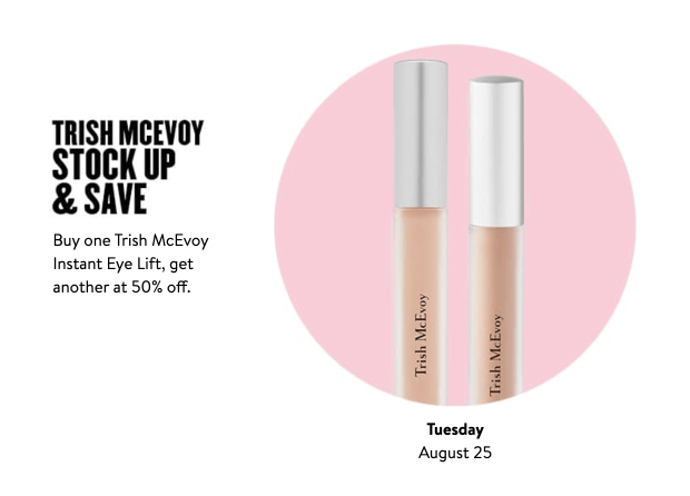 Nordstrom Canada Glam-Up Day 7 Save on Trish McEvoy Instant Eye Lift Concealer Canadian Anniversary Sale Event Daily Deal August 25 2020 - Glossense