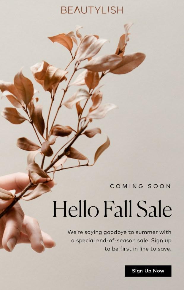 Beautylish Canada End of Season Fall 2020 Sale Coming Soon Canadian Beauty Deals Major Savings - Glossense