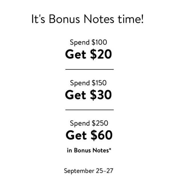 Nordstrom Canada Bonus Notes Event Shop Get Up to 60 Free 2020 Canadian Deals - Glossense