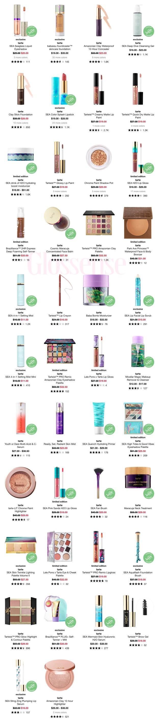 Sephora Canada Hot Sale Labour Day 2020 Save on Tarte Cosmetics Makeup Skincare Brushes - Glossense