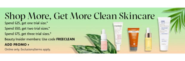 Sephora Canada Promo Code Free Clean Beauty Deluxe Samples Canadian GWP Shop More Get More Sample Beauty Offer September 2020 - Glossense