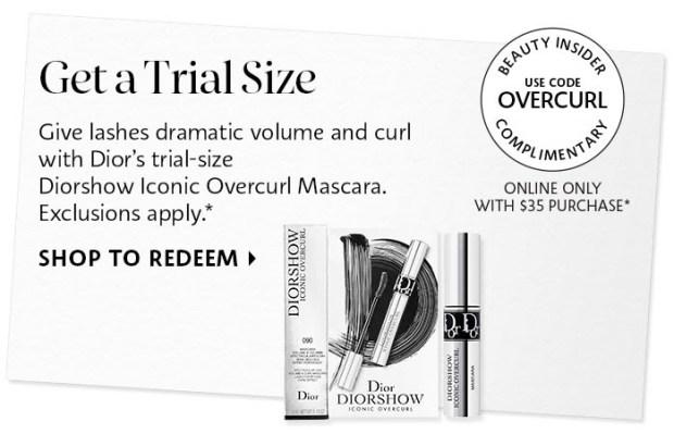 Sephora Canada Promo Code Free Dior Diorshow Iconic Overcurl Deluxe Mini Sample - Glossense