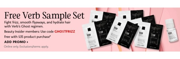 Sephora Canada Promo Code Free Verb Ghost Haircare Sample Set - Glossense