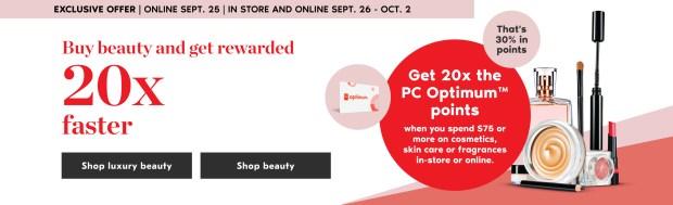 Shoppers Drug Mart Canada 20x PC Optimum Point Sept Oct 2020 - Glossense
