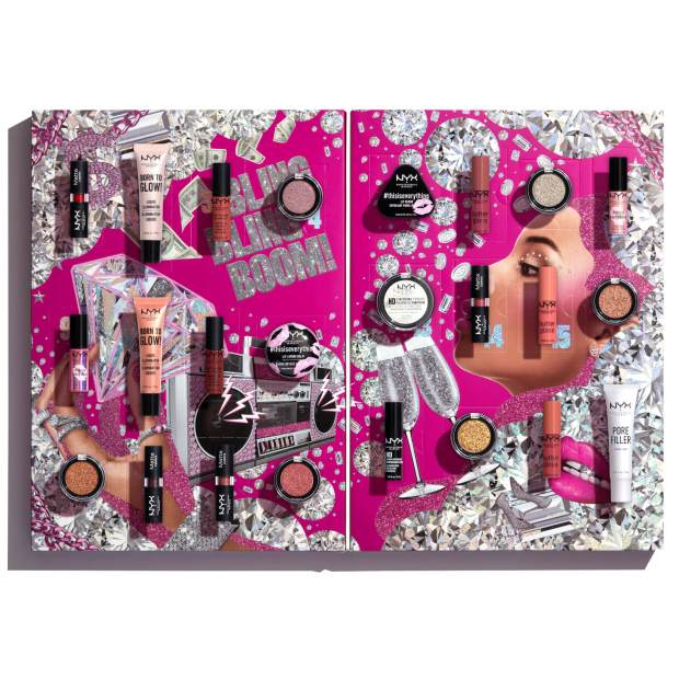 LookFantastic Canada Nyx Makeup Diamonds Ice Please 24 Day Festive Countdown 2020 Canadian Holiday Christmas Beauty Advent Calendar 2021 Unboxing - Glossense