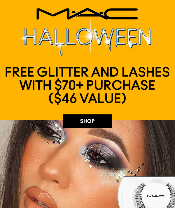 MAC Cosmetics Canada Free Glitter Lashes Purchase Halloween 2020 Canadian Deals GWP Offer - Glossense