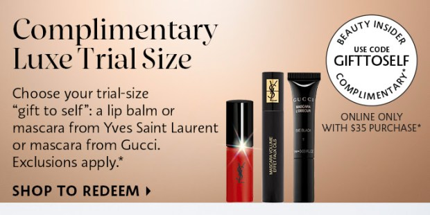 Sephora Canada Promo Code Free Luxe Deluxe Samples Gucci Yves Saint Laurent Canadian GWP Beauty Offer - Glossense