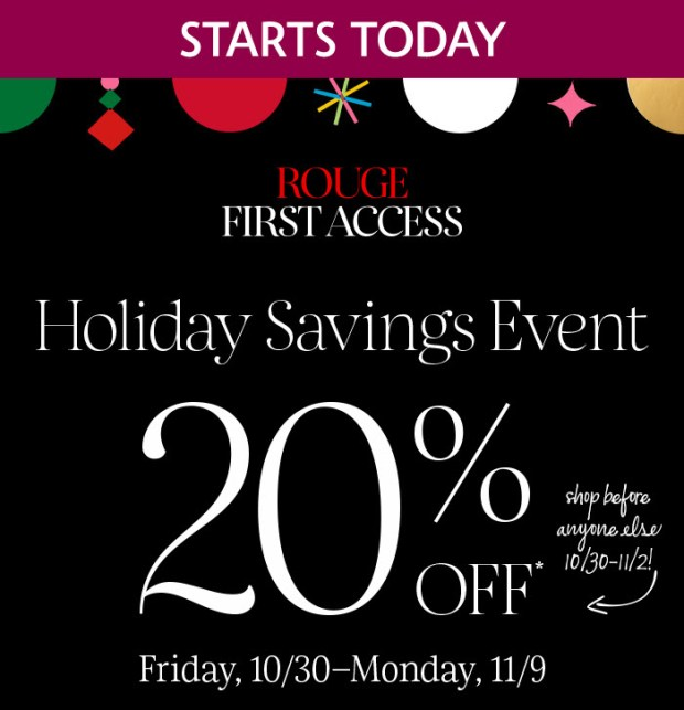 Sephora Canada Rouge First Access Holiday 2020 Savings Event Starts TODAY Save 20 Off October November 2020 Beauty Insider Canadian Event - Glossense