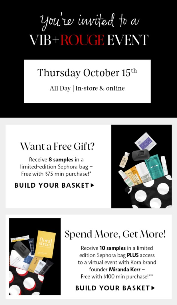 Sephora Canada VIB Rouge Fall 2020 Event In-Store Online Free Gift Bag Coupon Promo Code - Glossense