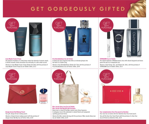 Shoppers Drug Mart Canada Free In-Store Gifts Fragrance Purchases Canadian Deals Gift with Purchase Offers October 31 2020 - Glossense