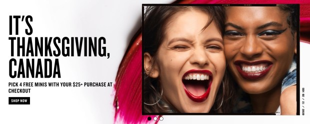 Smashbox Canada Thanksgiving 2020 Canadian Deals 4 Free Treats - Glossense