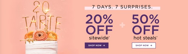 Tarte Cosmetics Canada Birthday Week Day 6 Off Hot Steals 2020 HOT Canadian Deals Promo Code - Glossense