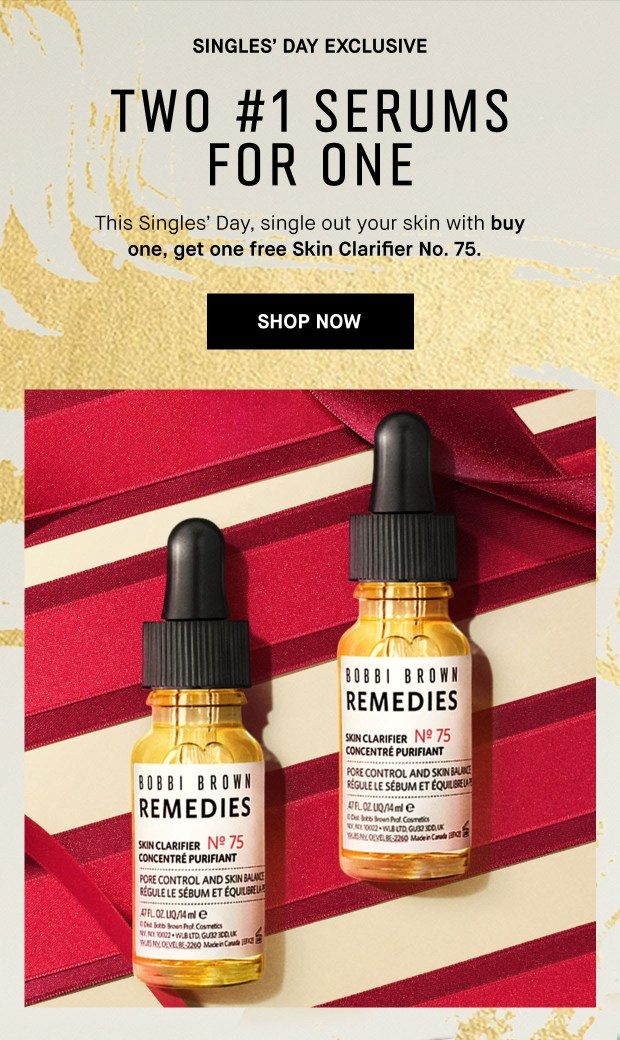 Bobbi Brown Cosmetics Canada Singles Day Daily Deal 2 BOGO Serums - Glossense