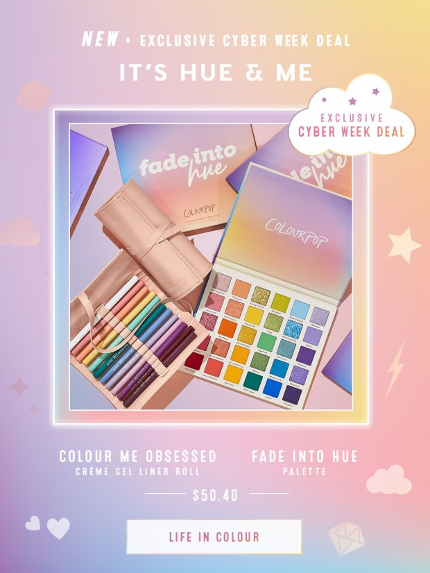 ColourPop Cosmetics Canada It's Hue and Me 2020 Cyber Week Deal Black Friday - Glossense